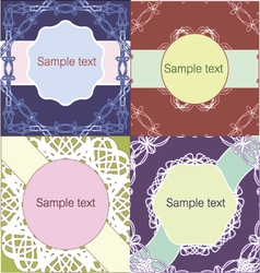 Set of lacy vintage style invitation sample vector