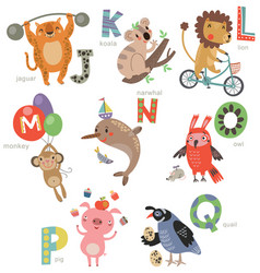zoo alphabet for children vector image