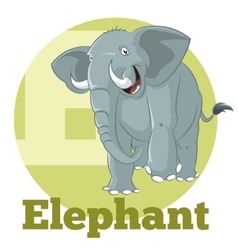 ABC Cartoon Elephant3 vector image vector image