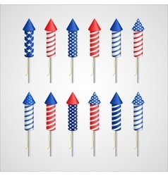 American Independence Day Holiday rocket vector image