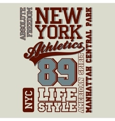 Athletic sport t-shirt graphics vector image vector image