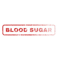 blood sugar rubber stamp vector image