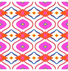 Ethnic pattern with arabic motifs vector