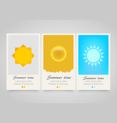 modern colorful vertical sun banners summer flyer vector image vector image
