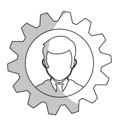 Person and gear icon vector