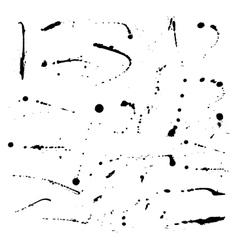 Set of ink blots vector image