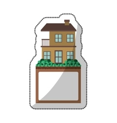 sticker of apartment with two floors design and vector image vector image