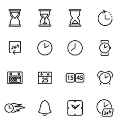 thin line icons - time vector image