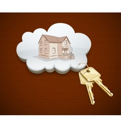keys of dream house in the vector image