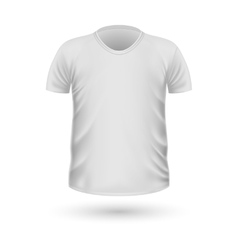 T-shirt Teplate Front Side View vector image