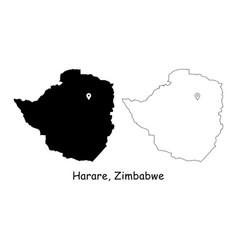 1198 harare zimbabwe vector image