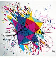 3d modernized bauhaus style wallpaper created vector