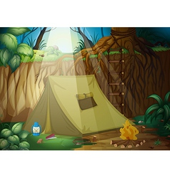 A camping tent vector image