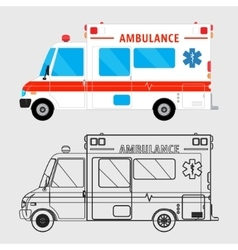 Ambulance car isolated vector image