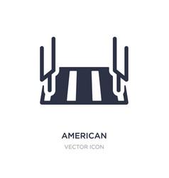 American football stadium icon on white vector