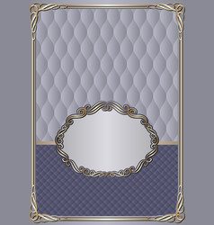Antique background with decorative frame vector