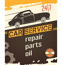 Auto Service Vintage Style Poster vector