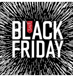 Black Friday Typography Rays background vector image