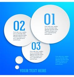 blue page template presentation steps option vector image