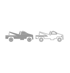 Breakdown truck icon grey set vector
