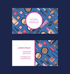 Business card template for beauty brand vector