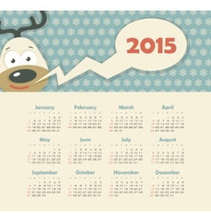 Calendar 2015 year with deer vector