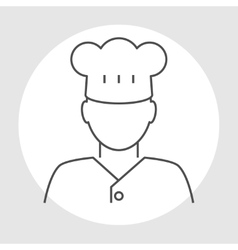 Cook avatar line icon vector image