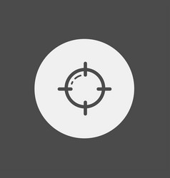 crosshair icon sign symbol vector image