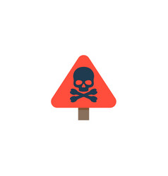 danger sign icon flat element vector image