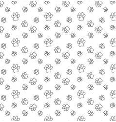 dog paw cat paw seamless pattern cartoon repeat vector image