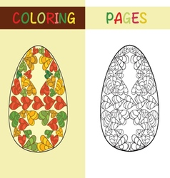 Easter eggs for coloring book vector