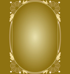 Elegant luxury golden floral patterns frame in vector