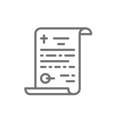 Funeral testament last will line icon vector