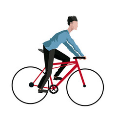 Guy rider bike transport vector