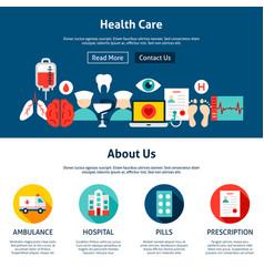 health care website design vector image