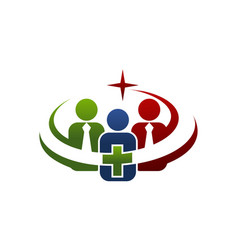 Health union logo design template vector