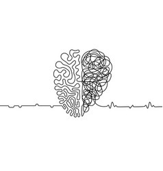 heart vs brain vector image