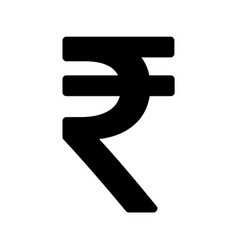 Indian rupee icon symbol isolated on white vector
