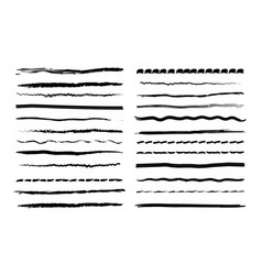 ink pen drawing lines vector image