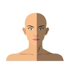 Isolated woman face cartoon design vector