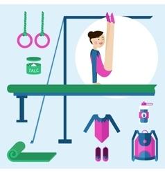 Items for gymnastics vector image