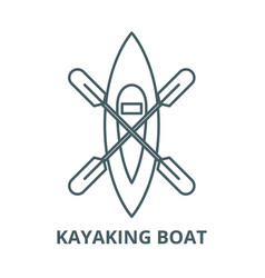 kayaking boat line icon linear concept vector image