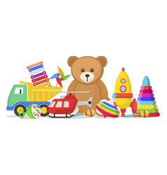 kids toys set vector image