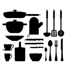 kitchen utensil cute patterns vector image