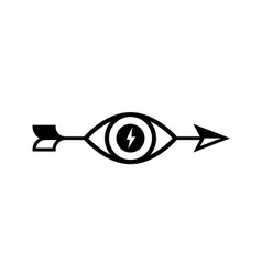 logo an arrow with an eye icon image is vector image