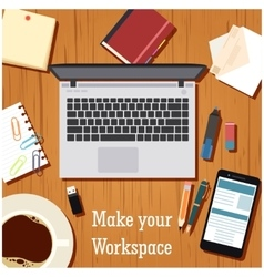 Make your workspace banner1 vector image