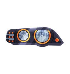 Modern bright auto car headlights rare headlamps vector
