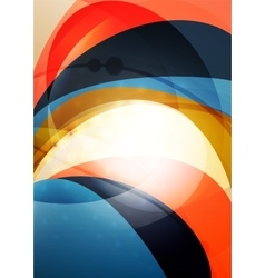 Modern curve stripes template vector image