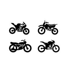 motorcycle icon design set bundle template vector image