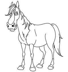 Outlined horse vector